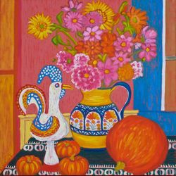 STILL LIFE WITH GALLO AND CALABAZA