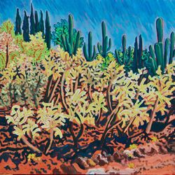 CACTUS ORCHARD:ALONG A DIRT TRACK
